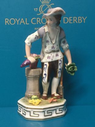Royal Crown Derby Sculptural Elements Earth Figurine
